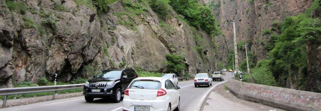 جزئیات محدودیت ترافیکی جاده کرج &ndash چالوس ، جاده چالوس یک طرفه شد