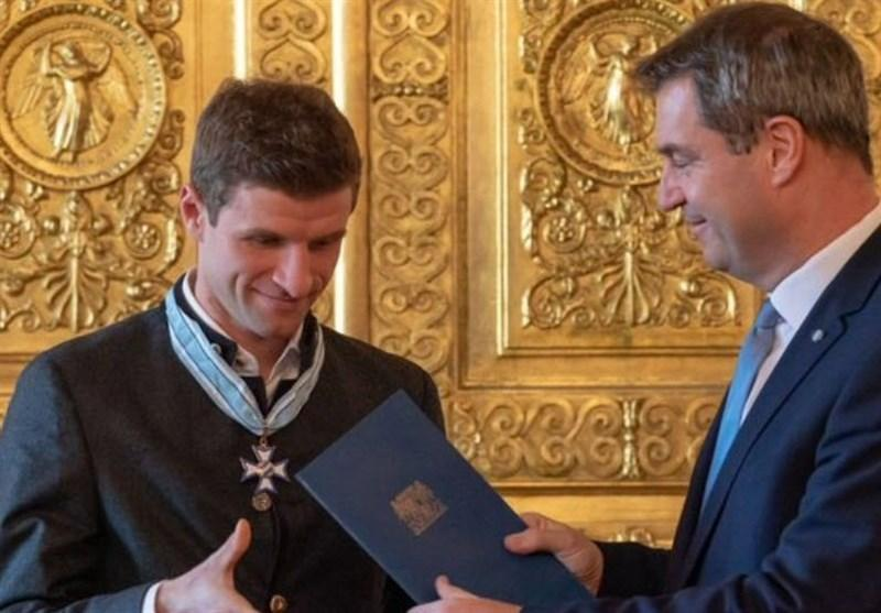 مولر مدال افتخار ایالت باواریا را دریافت کرد
