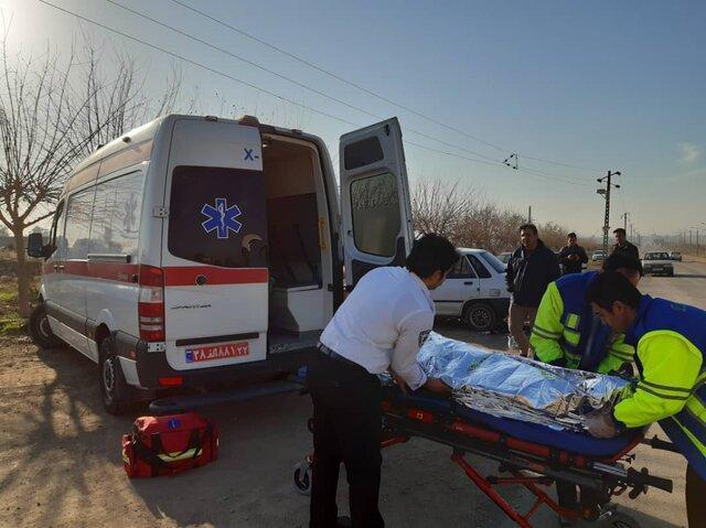 19 مصدوم در تصادف صبحگاهی اتوبوس با کامیون
