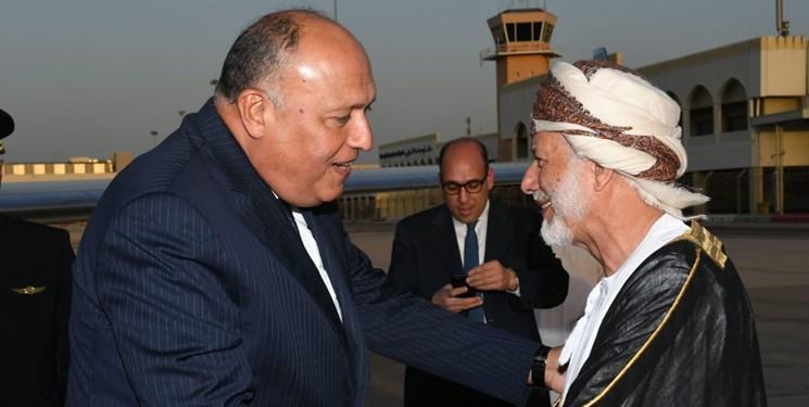 ملاقات وزیر خارجه مصر با سلطان عمان