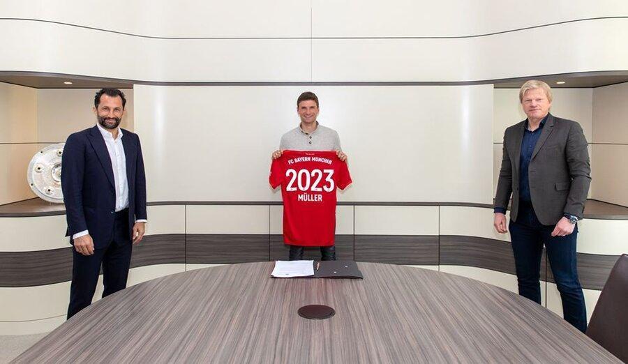 توماس مولر تا 2023 در بایرن مونیخ