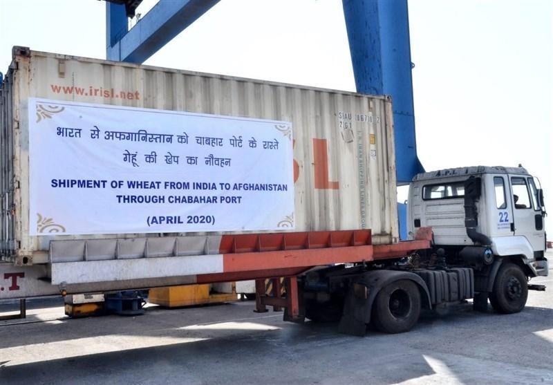 ارسال محموله 75 هزار تنی گندم هند به افغانستان از بندر چابهار