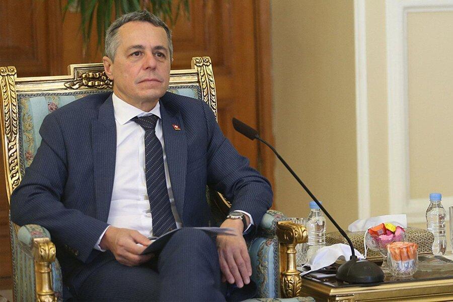 واکنش وزیر خارجه سوئیس پس از ملاقات با ظریف