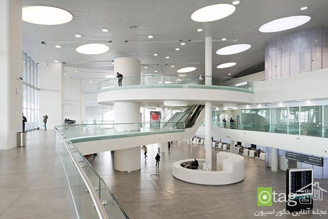 آنالیز نمای داخلی فرودگاه بین المللی روسیه با طراحی آینده نگرانه