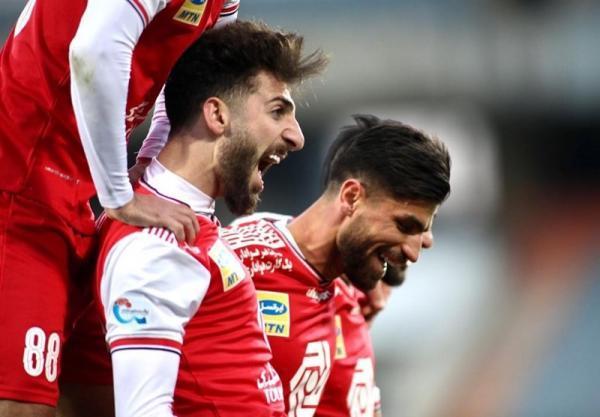 لیگ برتر فوتبال، پیروزی پرسپولیس مقابل فولاد در نیمه نخست
