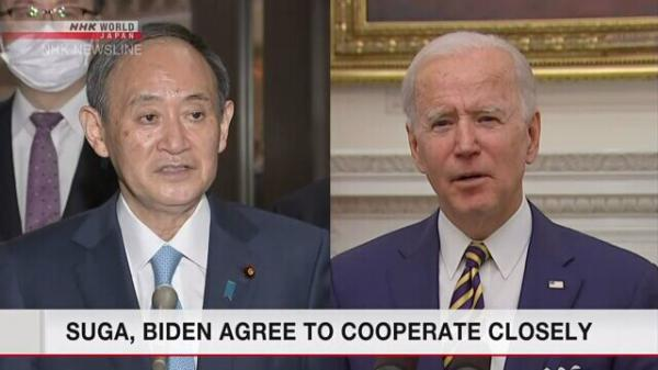 اولین تماس نخست وزیر ژاپن با جو بایدن، توافق برای تقویت روابط