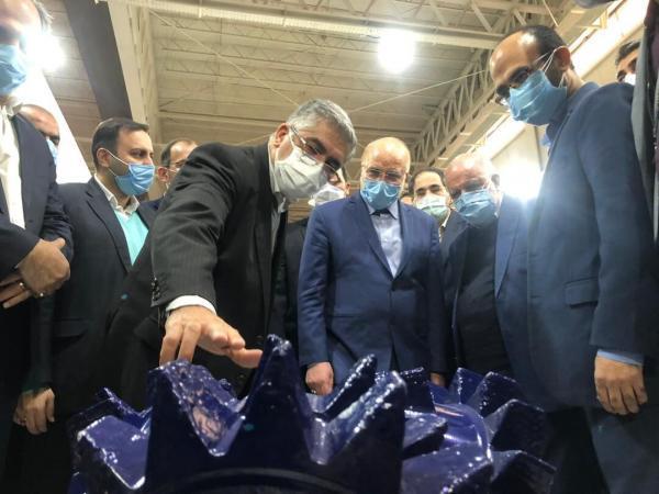 رئیس مجلس به بیست وپنجمین نمایشگاه نفت ایران آمد