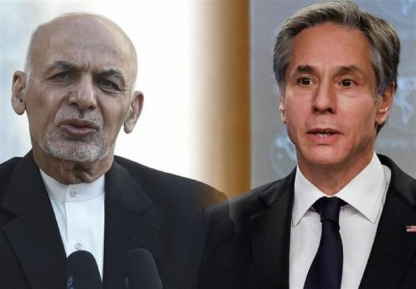 انتشار نامه تایید نشده وزیر خارجه آمریکا برای اشرف غنی